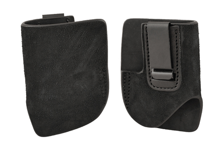 gat: A tactical leather holster without gun. Isolated Stock Photo