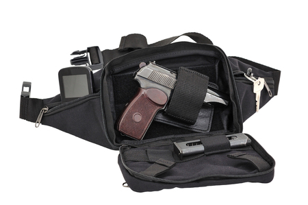 gat: City tactical bag for concealed carrying weapons with a gun inside