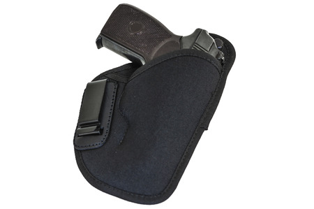 gat: Handgun in the nylon holster. Isolated