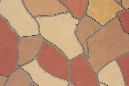 Irregular mosaic of wall outdoor photo