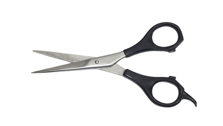 Professional Haircutting Scissors. Studio isolation on white. Stock Photo - 8932122