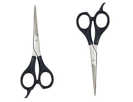 haircutting: Professional Haircutting Scissors. Studio isolation on white.  Stock Photo