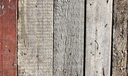 Close up of gray wooden fence panels Stock Photo - 8935207
