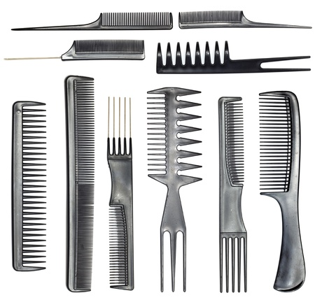 haircutting: collection of combs