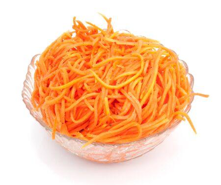 zanahoria: Ensalada de zanahoria Foto de archivo