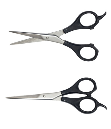 Professional Haircutting Scissors. Studio isolation on white.  Stock Photo - 9465914