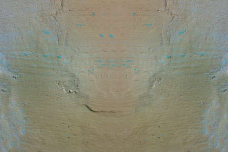 Vintage grunge wall with peeling paint, texture with vignette  photo