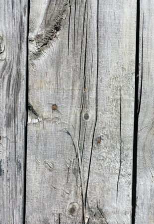 Close up of gray wooden fence panels Stock Photo - 9466666
