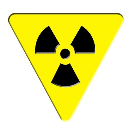 radioactive sign: radioactive sign  Stock Photo
