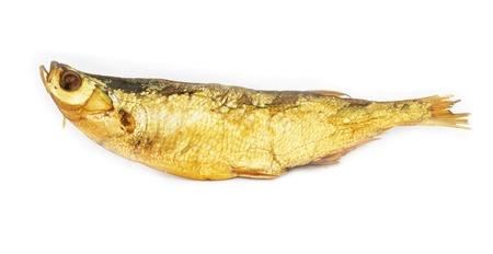 smoked fish isolated on white  photo