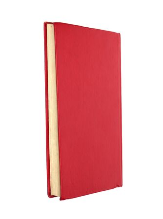 Red book isolated on white . Clean cover  photo