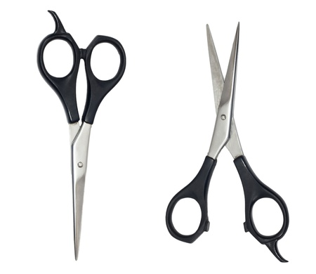 Professional Haircutting Scissors. Studio isolation on white. Stock Photo - 9465915