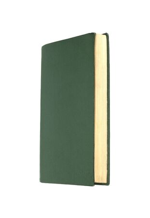 Green books on white background isolated  photo