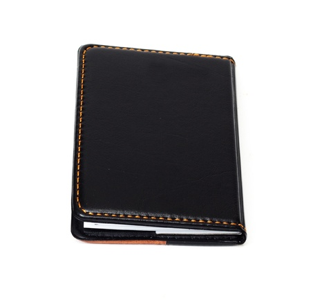 Small black notebook with blank cover  photo