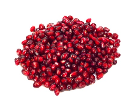 granatum: Extreme close up background of a red juicy ripe pomegranate fruit seeds
