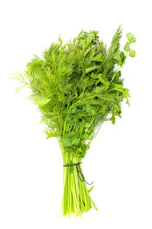 dill and parsley isolated on a white background Stock Photo - 9863669