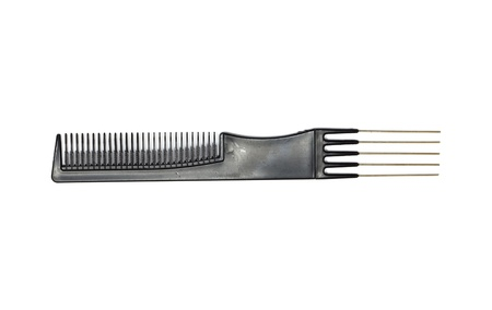 long handled: comb isolated on white close up look