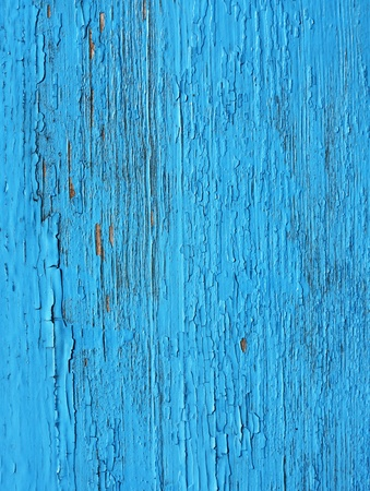 Closing on blue wooden panels of the fence  Stock Photo - 9974091