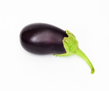 aubergine: Eggplant on white background  Stock Photo