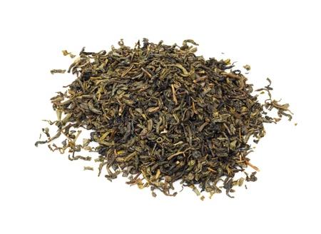 Green Tea Isolated On White  photo