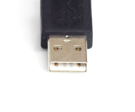usb2: Usb cable isolated over white  Stock Photo