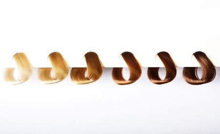 образцы волос разных цветов