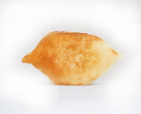 pasty: One oven baked pasty over white background. Looks delicious.  Stock Photo