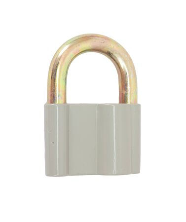 Padlock isolated on white background  Stock Photo - 10295196