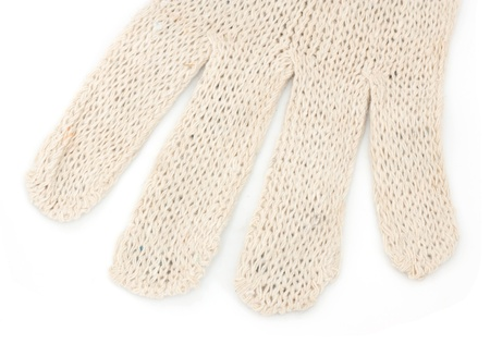 four fingers of knitted glove photo