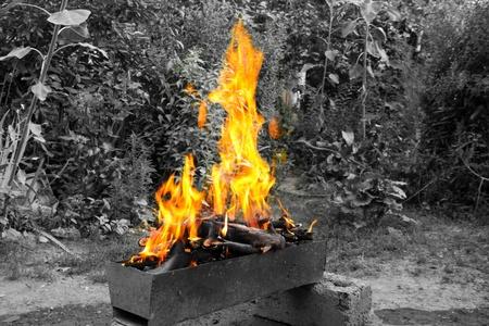 brazier: burning brazier
