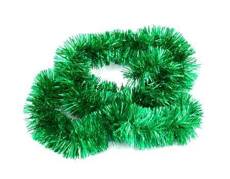 Green christmas tinsel garland stock photo picture and royalty