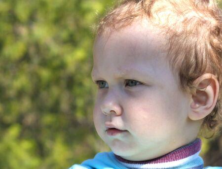 1 2 years: boy looking away