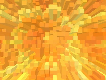 realize: An abstract background with cubes and orange color