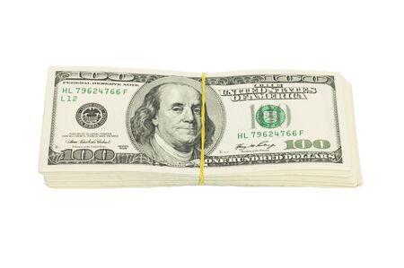 dolar: diez mil dólares en el fondo blanco