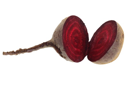 rote: beet on white background