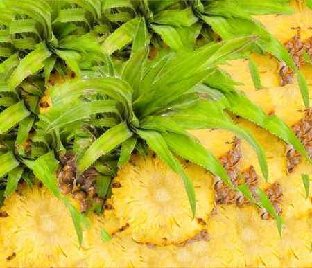 rican: Pineapple background  Stock Photo
