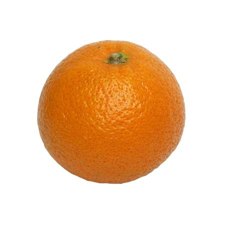 naranjas fruta: Un grande de color naranja aislado en un fondo blanco