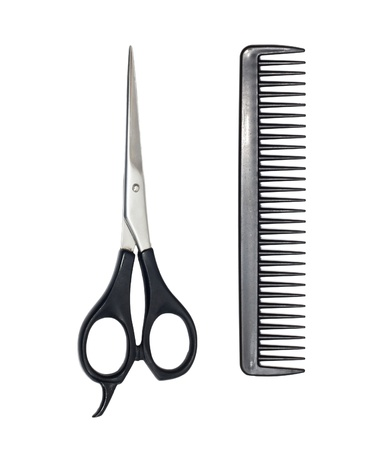 plastic comb: scissors and comb