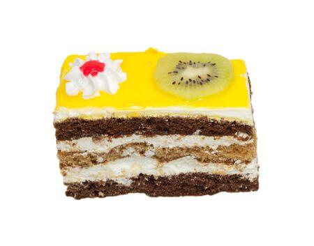 orange cake with kiwi Stock Photo - 10547425