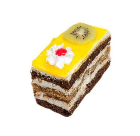 orange cake with kiwi Stock Photo - 10547395