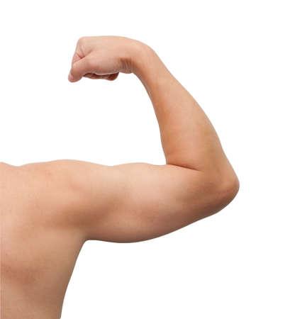 male arm: El brazo masculino aisladas sobre fondo blanco.