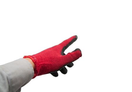 Hand in medical glove  photo
