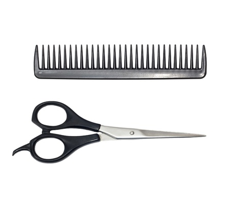 scissors and comb  photo