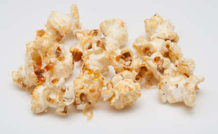 delicious fresh popcorn on white photo