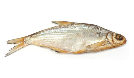 Dried fish on a white background  photo