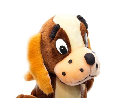 playthings: Toy dog isolated on white  Stock Photo