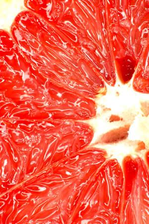 Red grapefruit close-up macro shot  photo