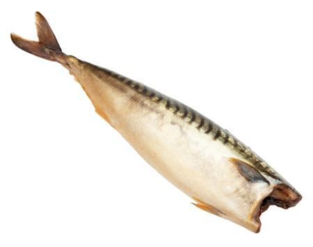 Smoked mackerel on a white background Stock Photo - 12086181