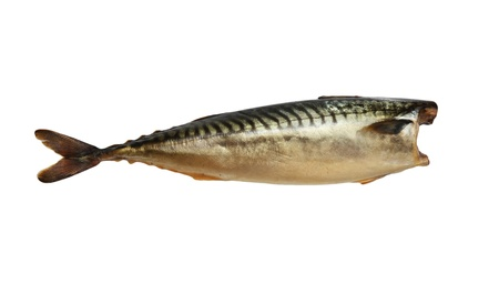 Smoked mackerel on a white background Stock Photo - 12086195