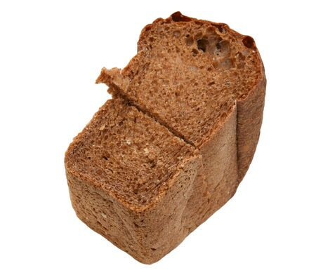 pip: rye bread on a white background